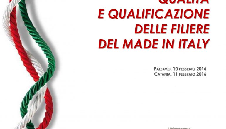 Progetto Filiere Made in Italy